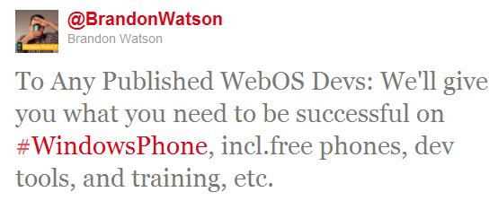 brandon watson microsoft - Microsoft offre des mobiles