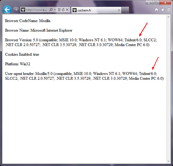 test navigateur - Testez Internet Explorer 10