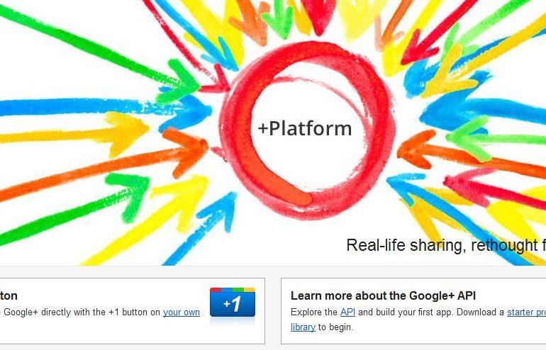 API Google+ 770x494 - L'API Google+ est disponible
