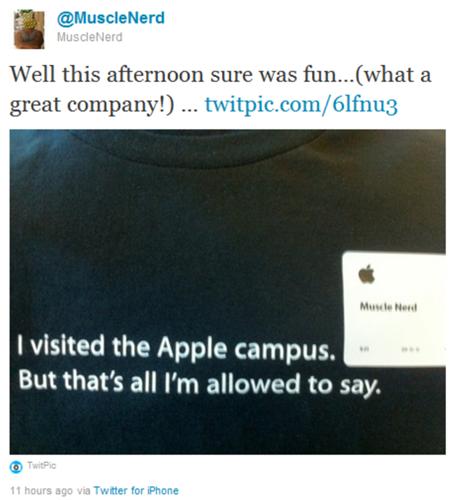 MuscleNerd Apple - MuscleNerd s'en va chez Apple ?