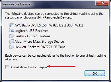 Removable Devices - VMware – Mac OS X Lion sur votre PC (Windows)
