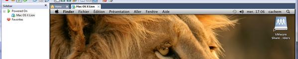 bandeau Mac OS X Lion VMware Windows
