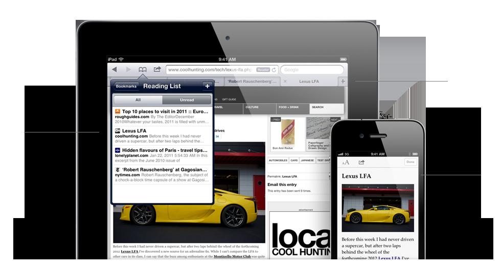 features safari - iOS 5 - Plus de 200 nouveautés