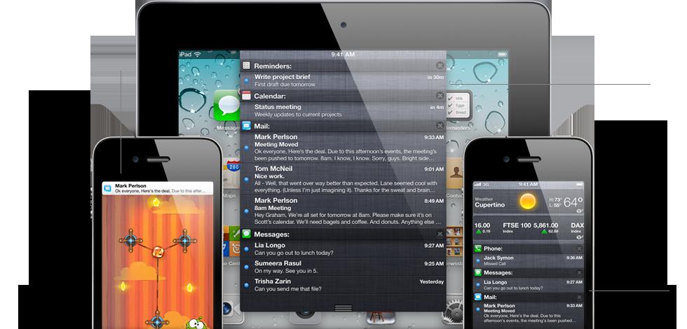 notifications - iOS 5 - Plus de 200 nouveautés