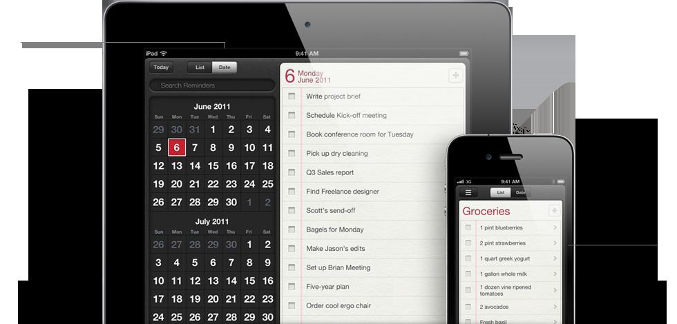 reminders - iOS 5 - Plus de 200 nouveautés