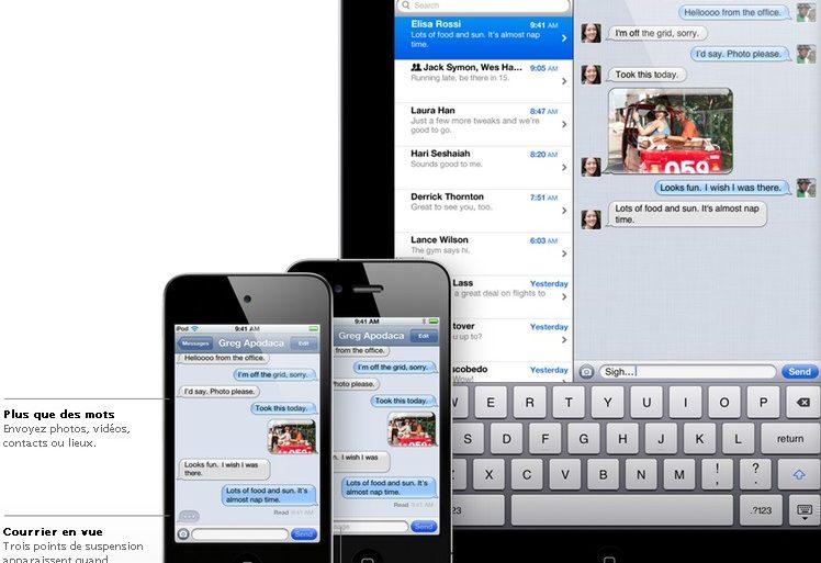 iMessage 748x513 - iOS 5 - Plus de 200 nouveautés