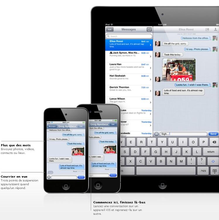 iMessage - iOS 5 - Plus de 200 nouveautés