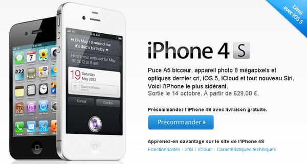 iPhone 4S - Produits Amazon & Apple en pré-commande