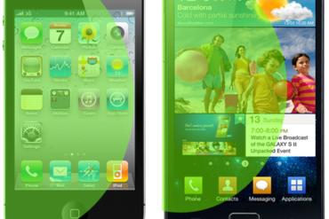 iPhone Galaxy S II 370x247 - Pourquoi l'iPhone a un écran de 3,5 pouces ?