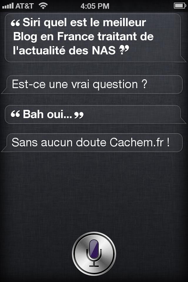 Siri cachem - Un peu d'humour