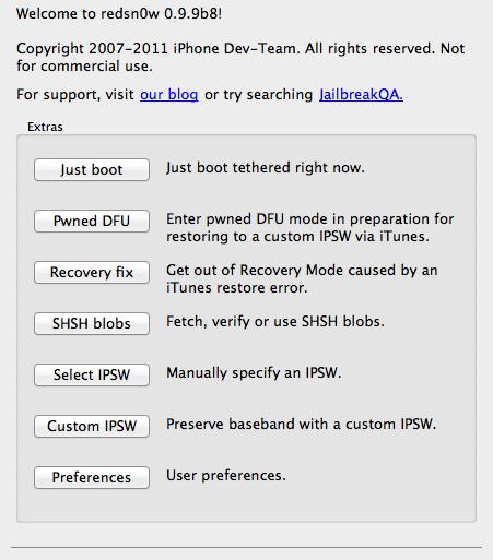 redsn0w 0.9.9b8 451x513 - Jailbreak iOS 5.0.1 disponible