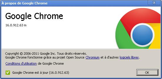 Google Chrome 16 - Google Chrome 16, enfin ?