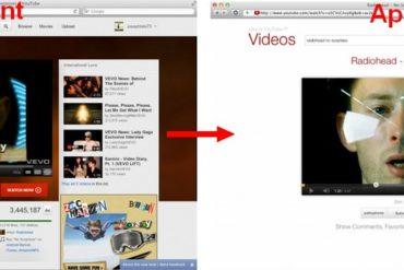 avant apres YouTube 370x247 - YouTube sans fioriture