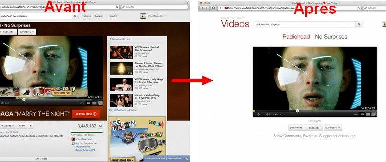 avant apres YouTube 770x323 - YouTube sans fioriture