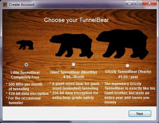 TunnelBear - 5 meilleurs VPN gratuits