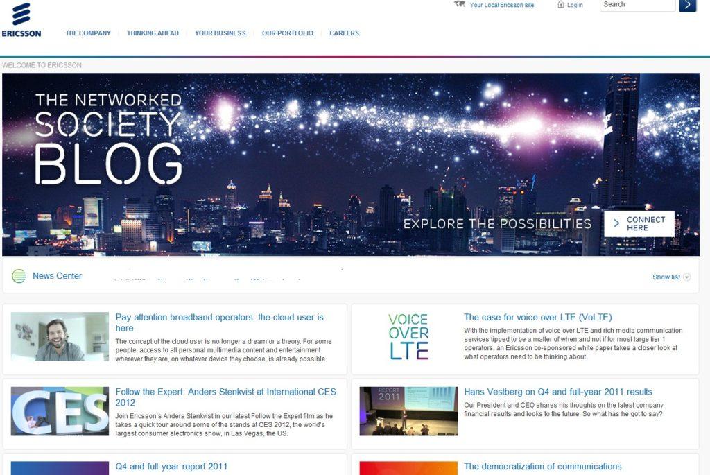 ericsson website 1024x685 - [rumeurs] Ericsson sera présent au MWC 2012