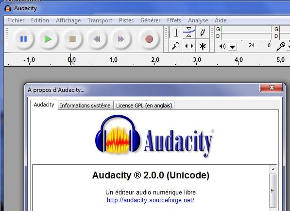 Audacity 2 - Audacity passe la seconde