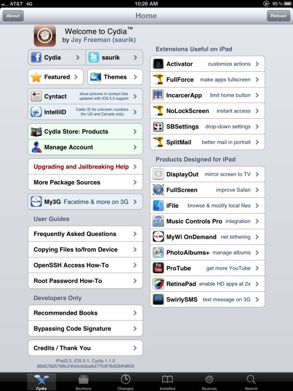 Cydia jailbreak iPad3 - Jailbreak du Nouvel iPad
