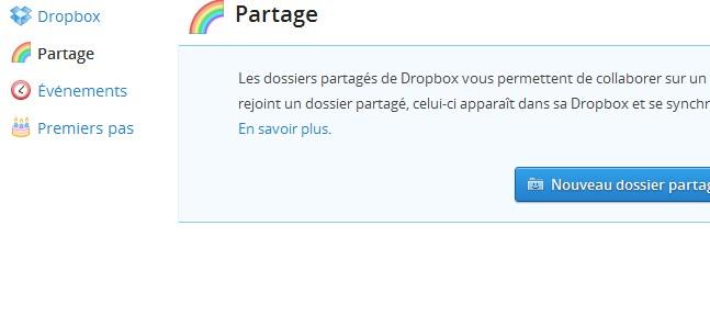Partage DropBox