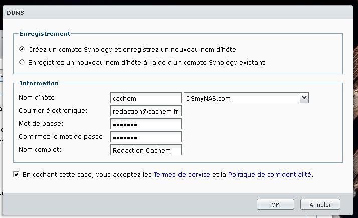 Sans titre 4 - Prise en main du DNS dynamique de Synology