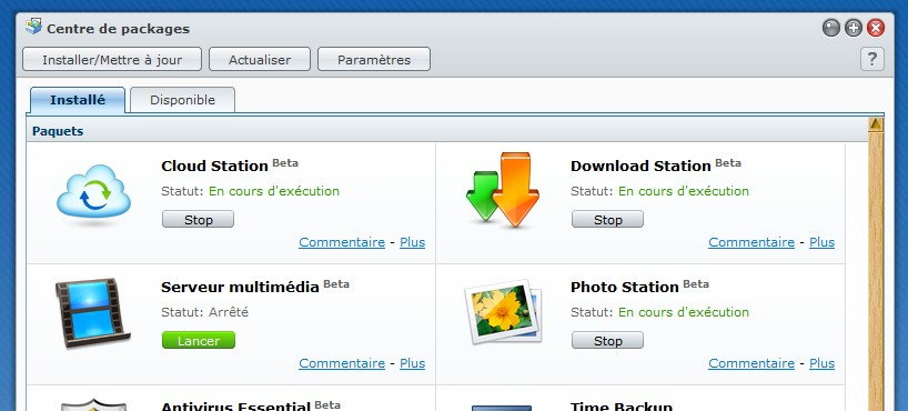 cloud Synology package - Synology - Prise en main du Cloud