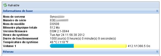 DS508 1000 jours uptime - NAS : les 1001 nuits
