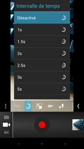 Screenshot TimeLapse Android - Time-lapse avec Android 4