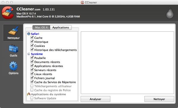 CCleaner Mac OS X - CCleaner évolue encore...