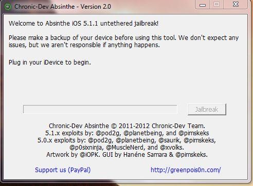 Jailbreak Chronic Dev Absinthe V2.0 - L'Absinthe les fait toutes cracker