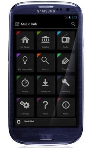 Music Hub Samsung Galaxy S 3 bleu - Lancement de Music Hub de Samsung