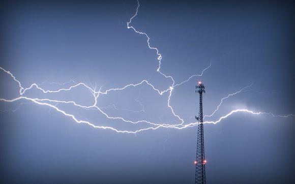 antenne orage eclair - Baisse des tarifs mobiles à l'étranger