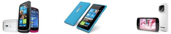 bandeau nokia lumia pureview - 2 Lumia et 1 PureView