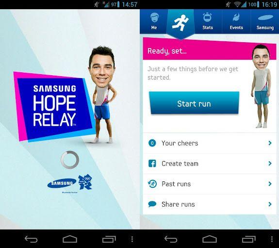 Samsung Hope Relay - Hope Relay - 1€ pour chaque km parcouru