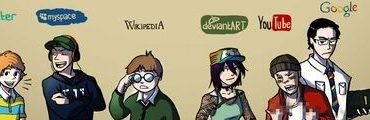 bandeau facebook twitter myspace wikipedia deviantArt YouTube Google 4chan 370x120 - Les vidéos du vendredi