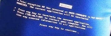 ecran bleu poitrine 370x120 - Ça plante toujours chez Microsoft