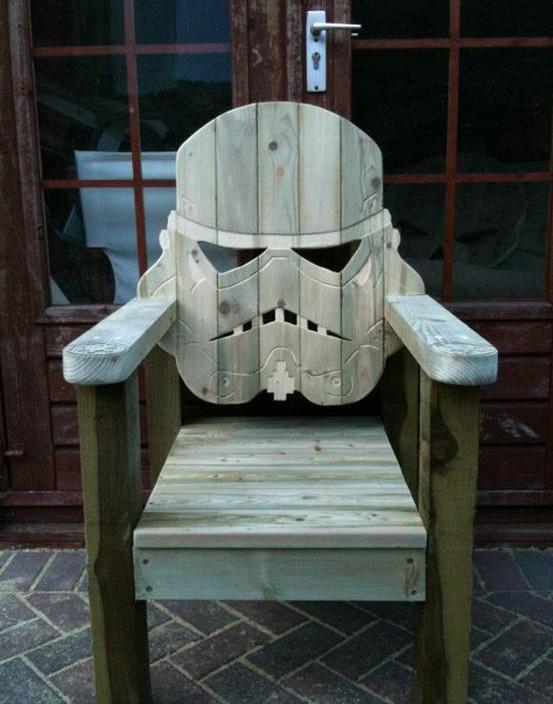 fauteuil bois dark vador - Geekeries du jour