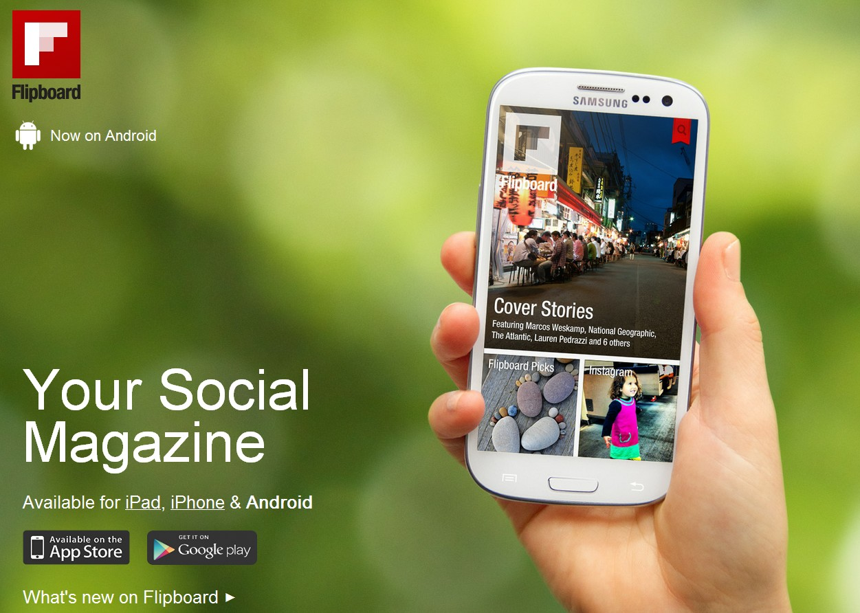 flipboard android samsung galaxy s3 - Flipboard pour Android