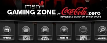 msn gaming zone coca cola 370x151 - Gaming Zone arrive sur MSN