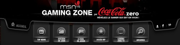 msn gaming zone coca cola - Gaming Zone arrive sur MSN