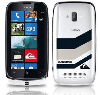 Nokia Lumia 610 Quiksilver avant et arriere - Nokia Lumia 610 & Quiksilver