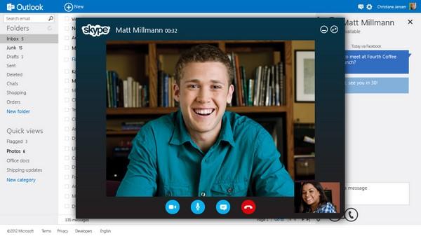 Outlook Inbox Skype - Outlook.com, le nouveau mail de Microsoft