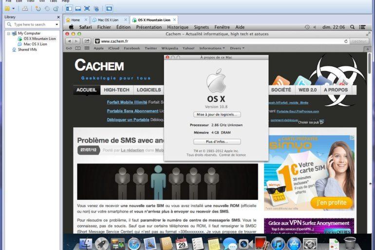 VMWare Moutain Lion 10.8 770x513 - Edito du 30 juillet