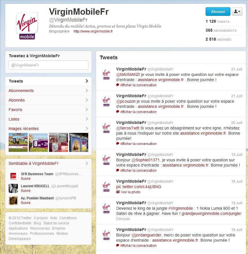 VirginMobile Bot - Chez Virgin mobile, le changement c'est maintenant