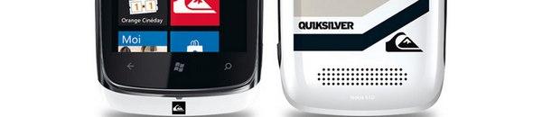 bandeau Nokia Lumia 610 Quiksilver - Nokia Lumia 610 & Quiksilver