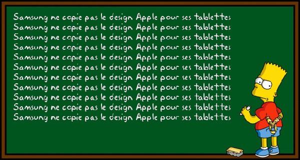 bart simpson samsung apple - Apple condamné à dire du bien de Samsung