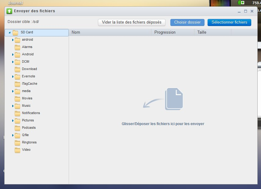 envoyer des fichiers - Prenez le contrôle de votre mobile avec AirDroid
