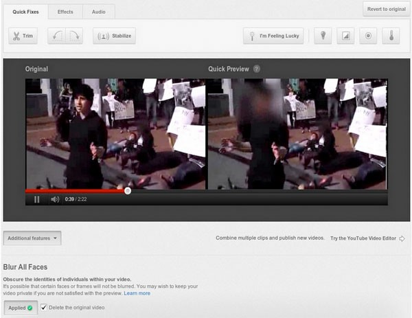 flou visages - YouTube ajoute le floutage de visage