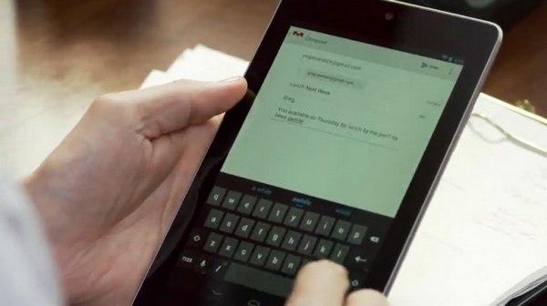 nexus tab mail - Bilan des annonces de la Google I/O