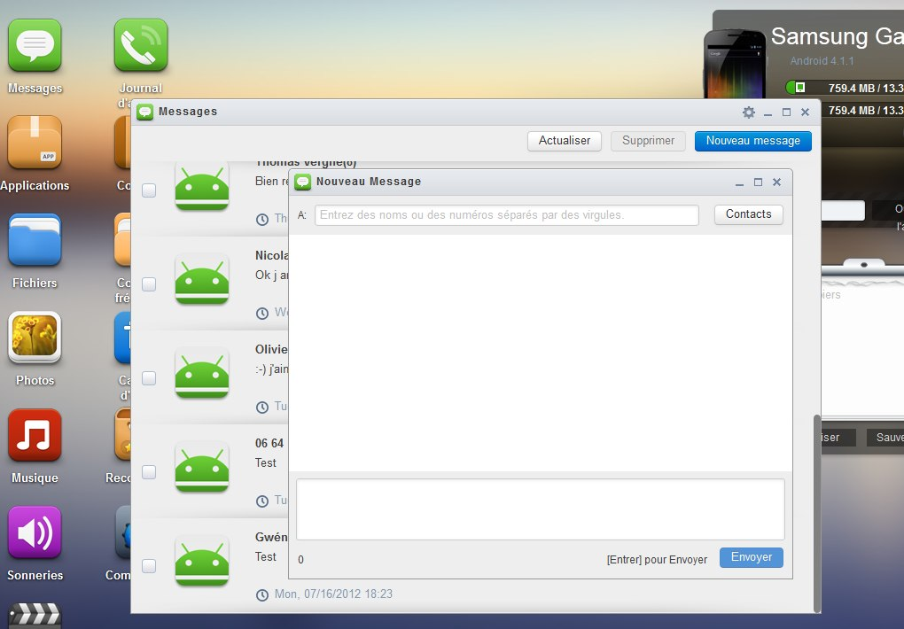 sms messages airdroid