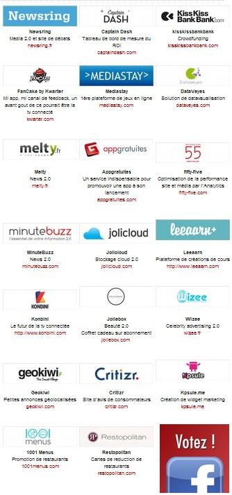 startup de l annee 2012 hubforum paris - Hub Forum 2012 - Les nominés sont...